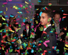 Boy at barmitzvah party